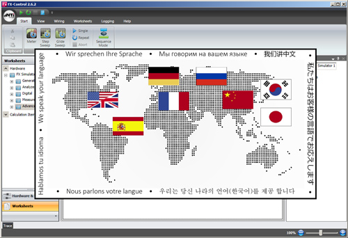 FX-Control Available in Many Languages